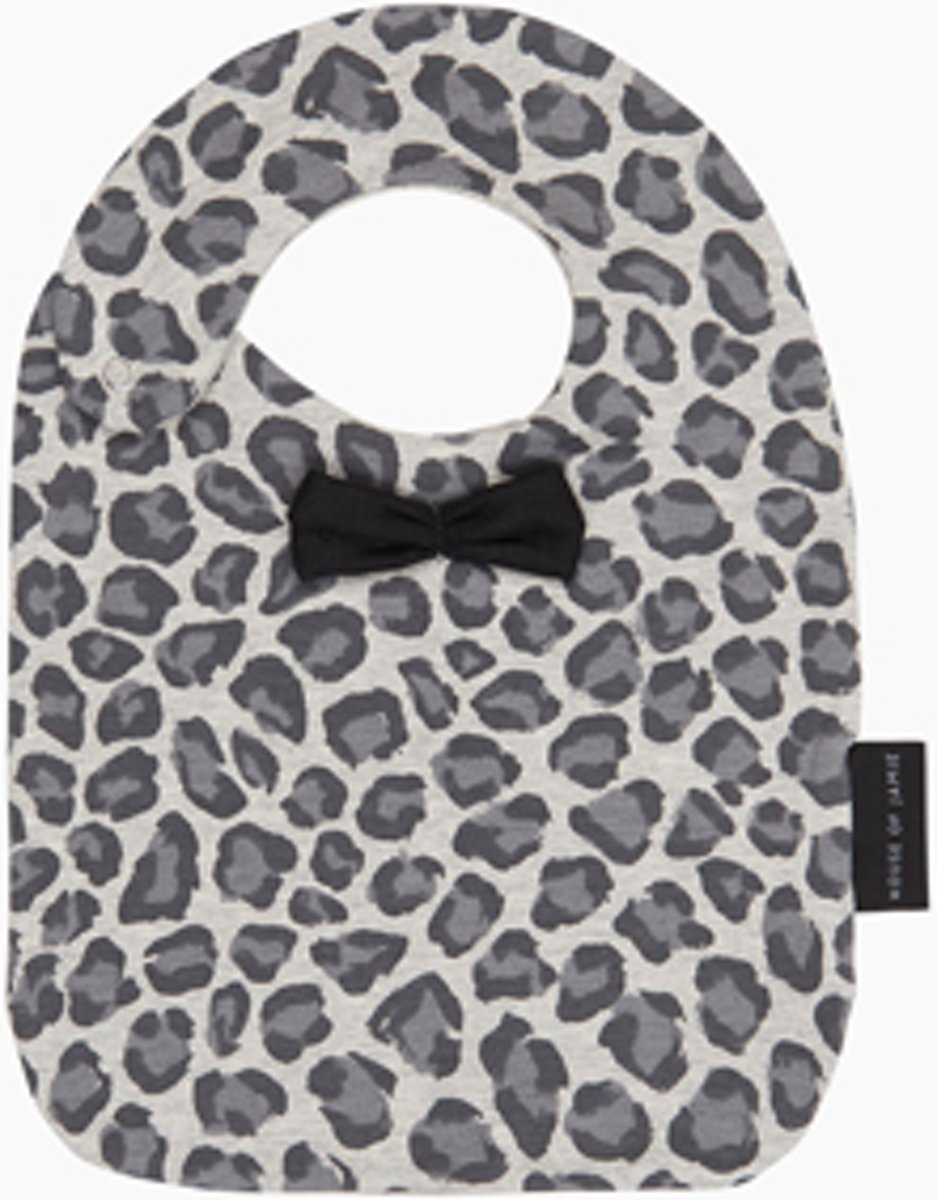House of Jamie - slabber - luipaard - strikje - kraamcadeau - Rocky Leopard kopen