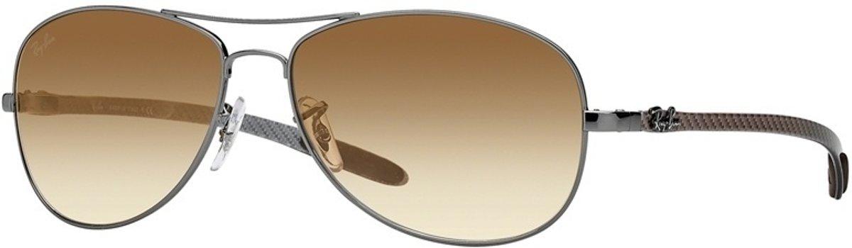 Ray-Ban RB8301 004/51 - Tec - zonnebril - Staalgrijs-Grijs / Lichtbruin Gradiënt - 59mm