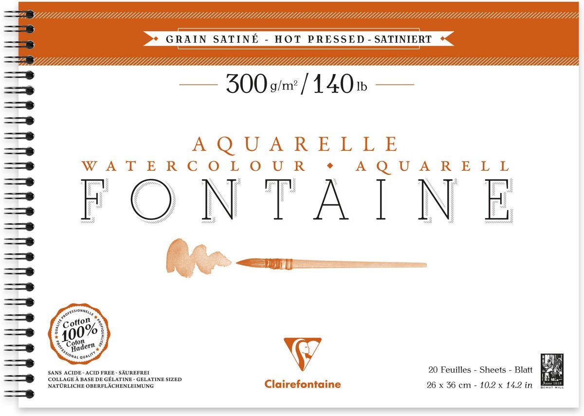 Fontaine aquarelle 300g/m² Hot pressed