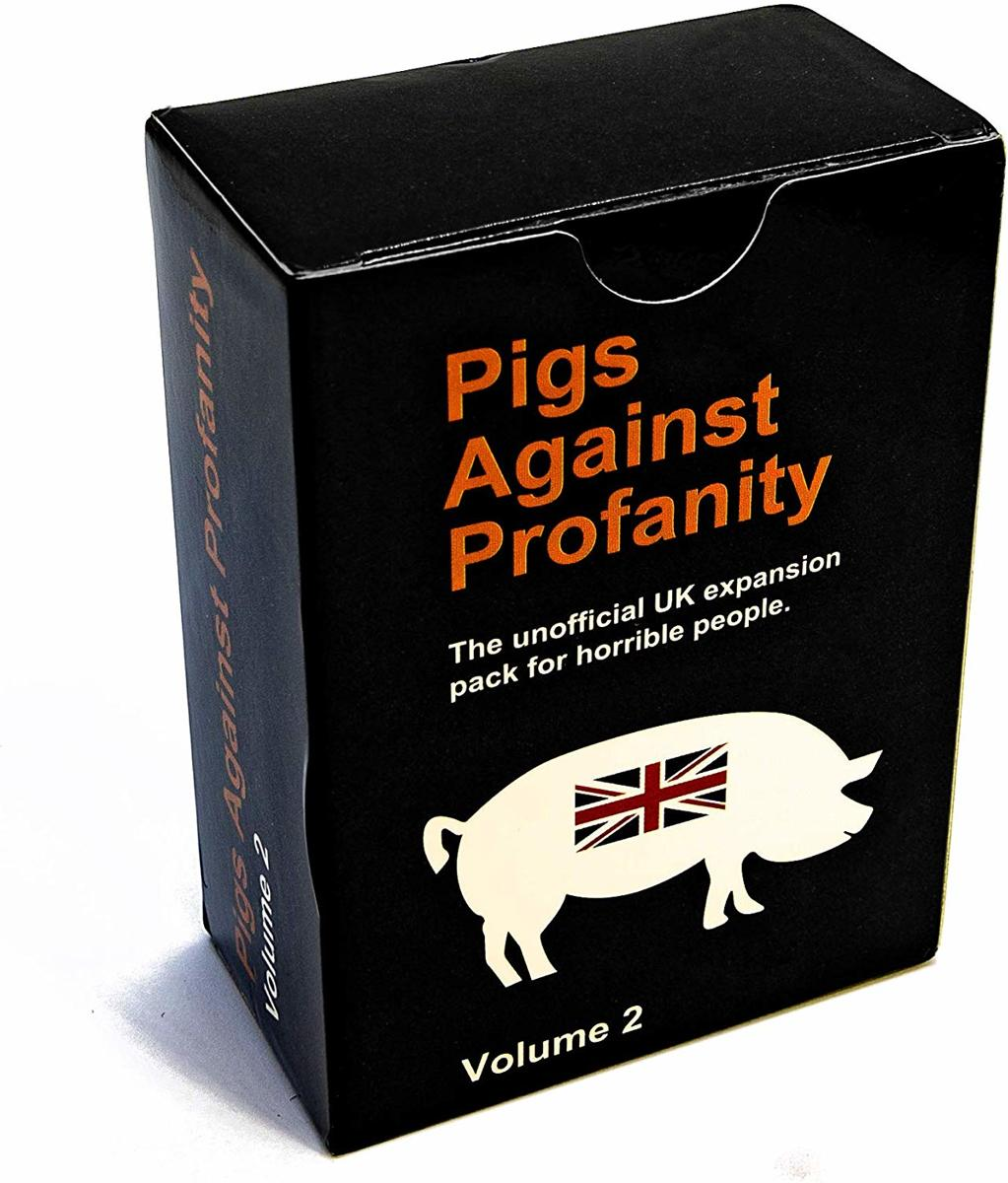 Volume 1 Pigs Against Profanity The unofficial UK card expansion pack for no