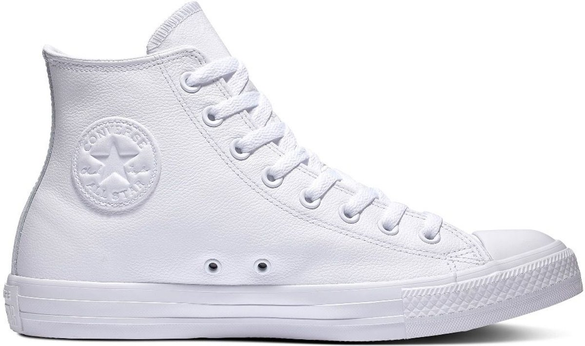 Converse All Stars Leather Hoog 1T406 Wit 44.5