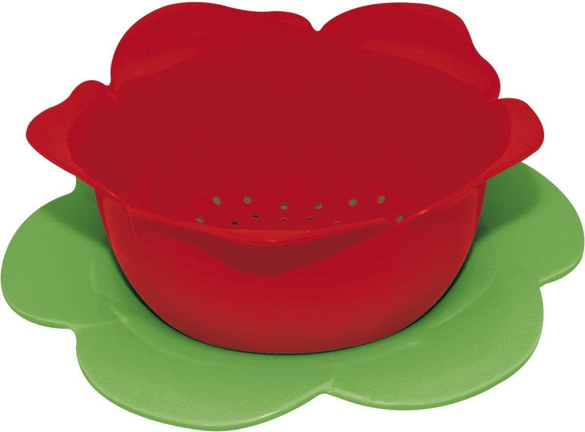 Zak! Designs Vergiet Roos Ø 16,5 cm - Rood/Groen kopen