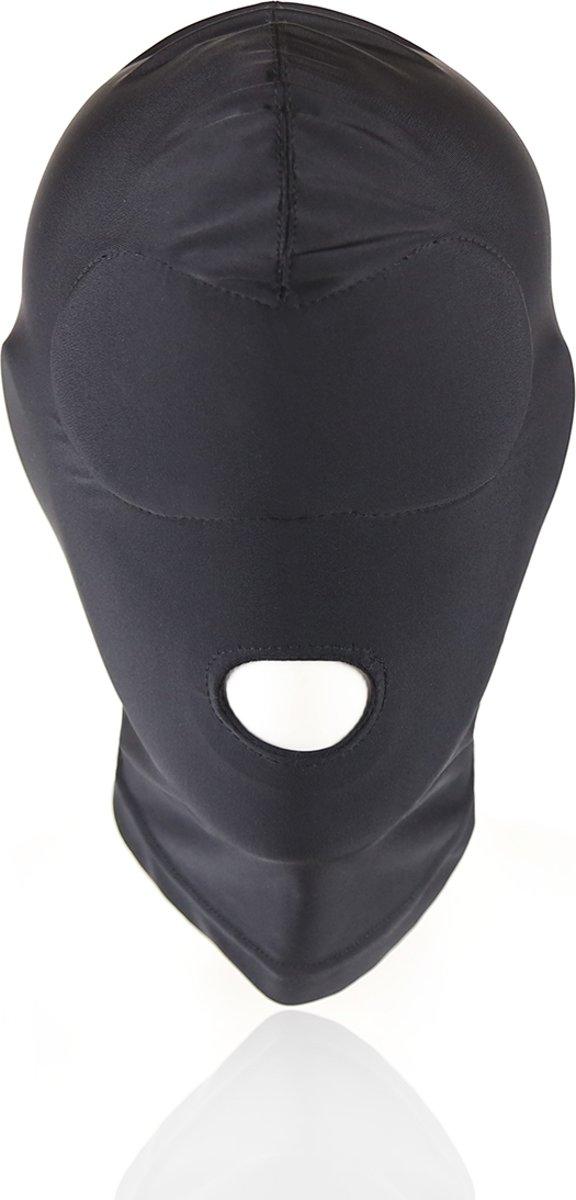 Foto van Banoch - Mask/1 hole Black - Spandex Masker - BDSM- Zwart