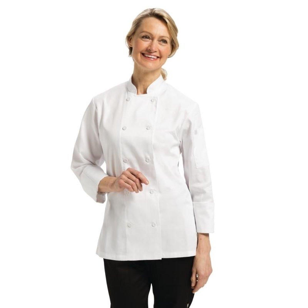 Chef Works damesbuis Marbella wit Maat L kopen