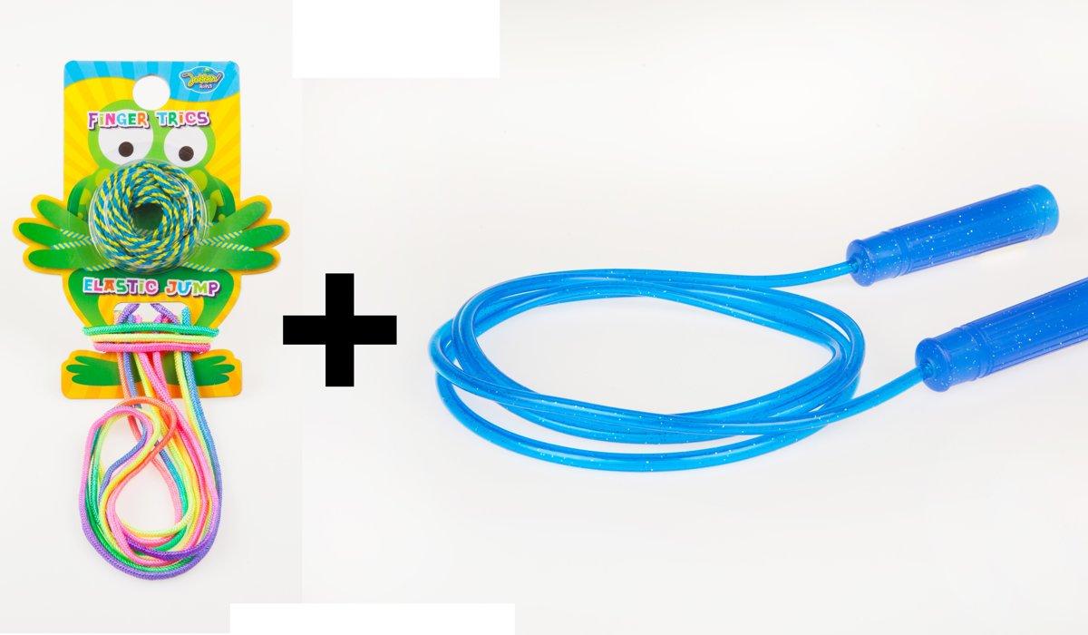 3 x JOBBER ROPES ?Glitter Springtouw + ?Springelastiek + ?Fingertricks touwtje   Elastieken   Hand touwtje   Vinger Touwtje  Touwtje Springen   kopen