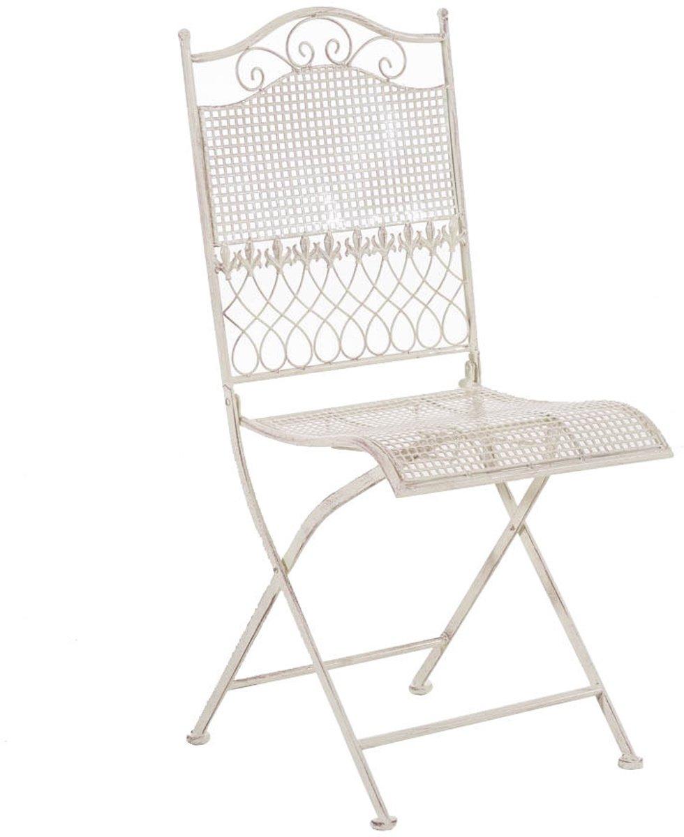 Clp Metalen klapstoel KIRAN, in nostalgisch design, tuinstoel, bistrostoel, balkonstoel, terrasstoel, patiostoel, Vouwbare tuinstoel met edele ornamen