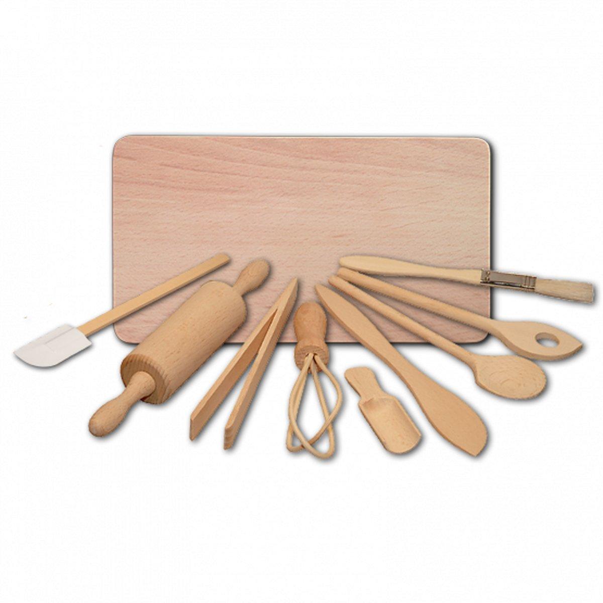 9-delige kinderkook- en bakset met snijplank kopen
