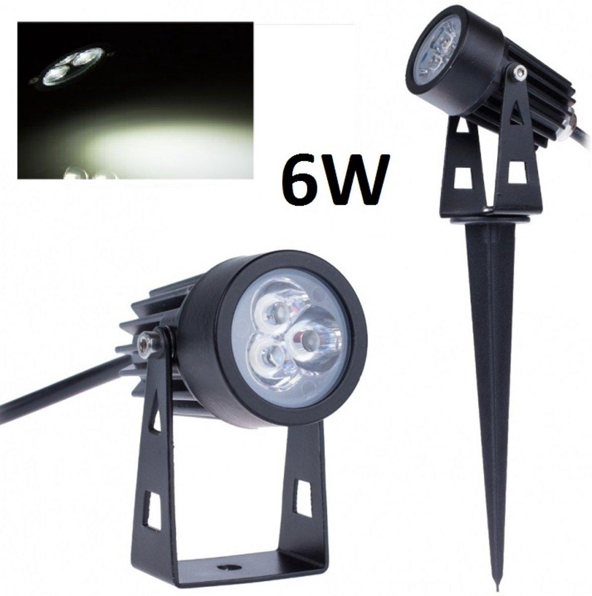 bol.com   LED tuinverlichting - 6W - grond spot 12V - Koud Wit + ...