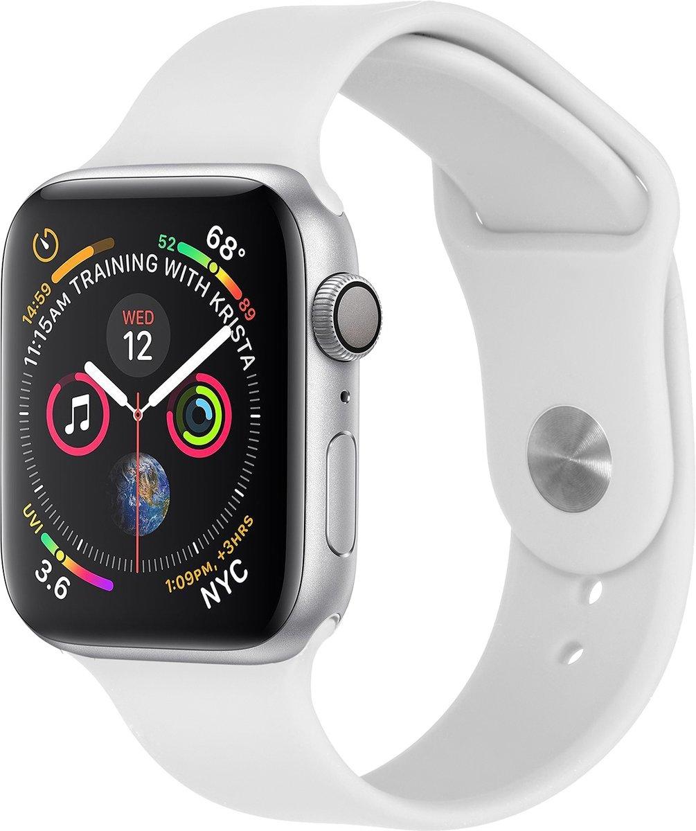 Wit siliconen sport bandje voor de Apple Watch 40 / 38 mm kopen