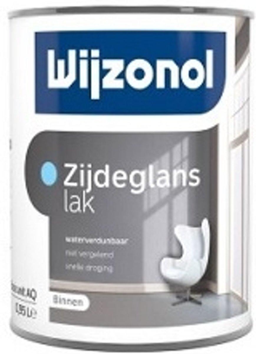 Wijzonol Zijdeglanslak Waterverdunbaar RAL9002 Grijswit 1 Liter