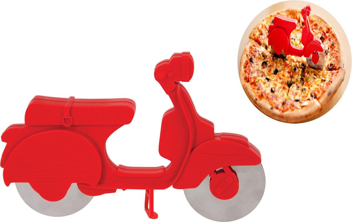 Balvi Scooter Pizzasnijder - Kunststof met Metaal - Rood kopen