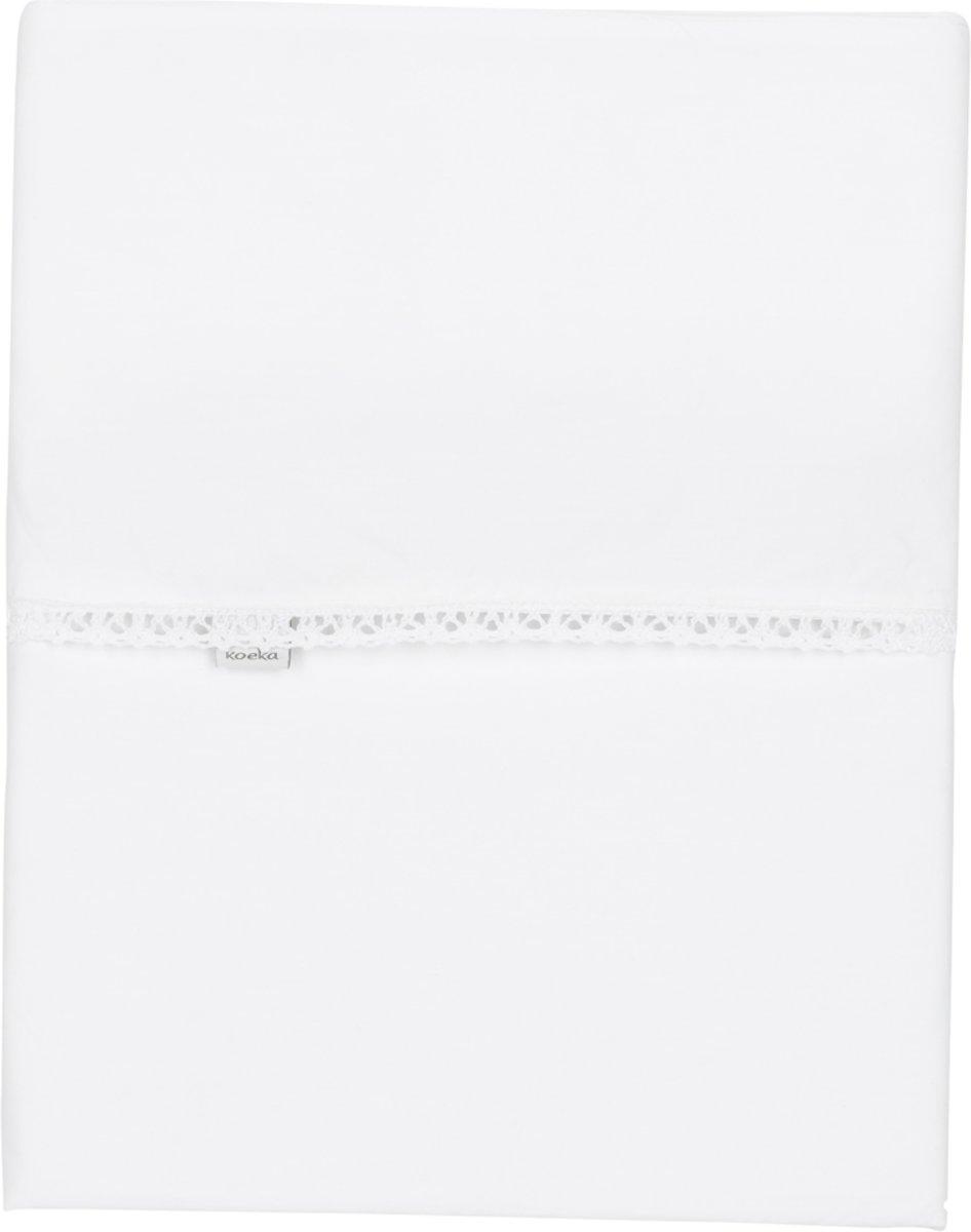 Koeka ledikant laken Sweet Lace - 110x140 - white