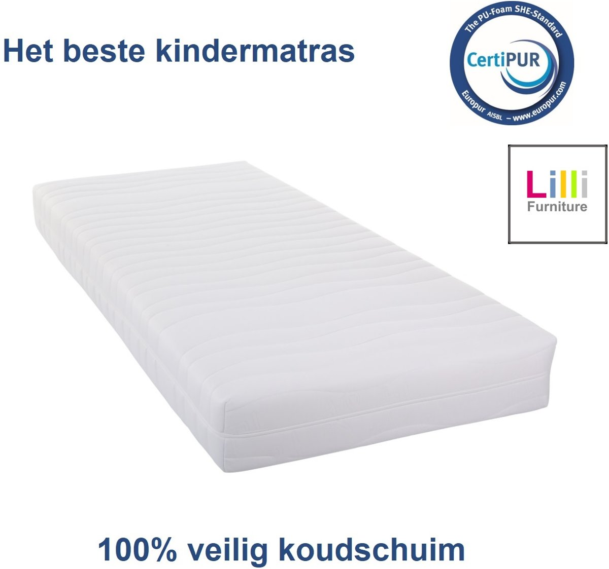 Kindermatras - veilig en gecertificeerd - 100nachten proefslapen - 90x200cm