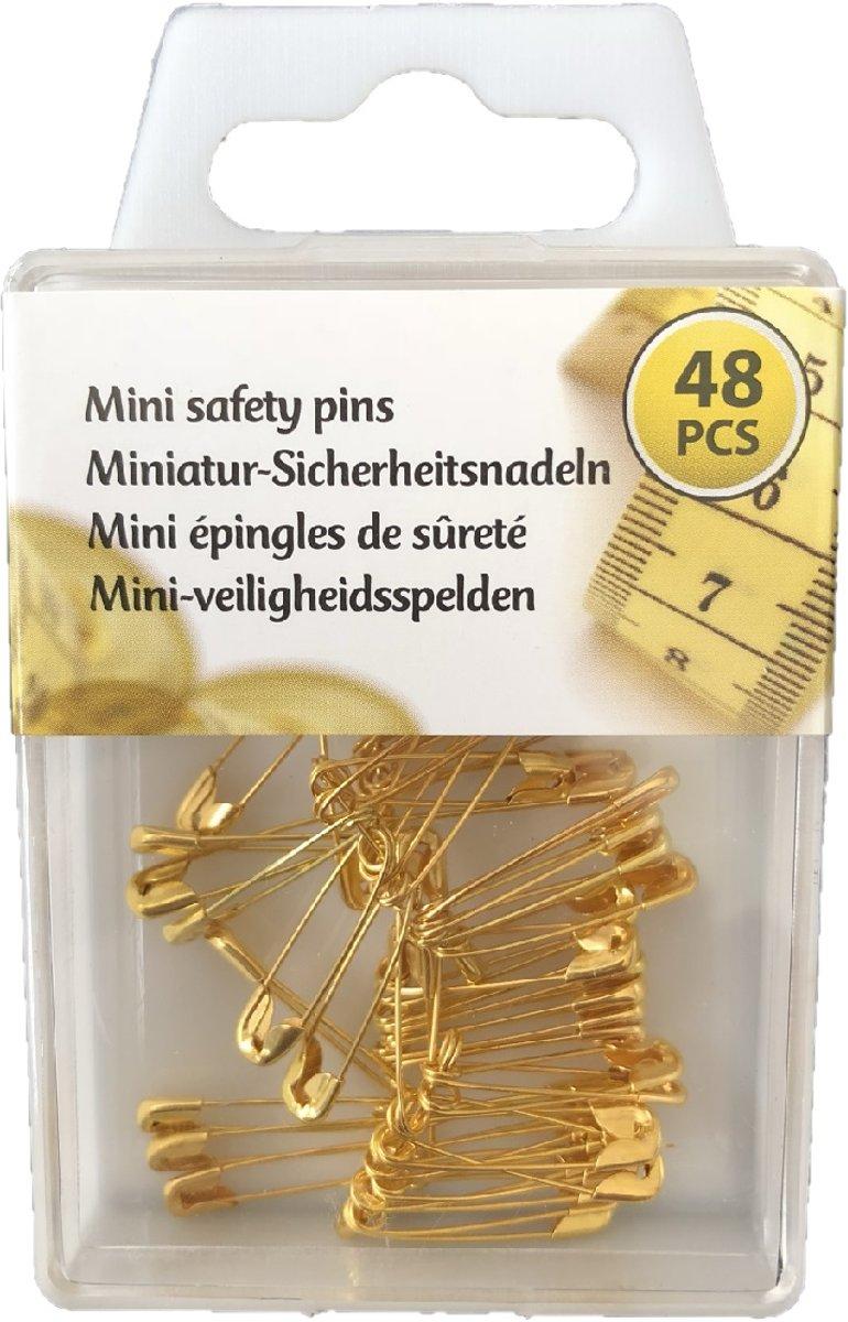 Mini veiligheidsspelden - goud - 48 stuks - 20 MM kopen