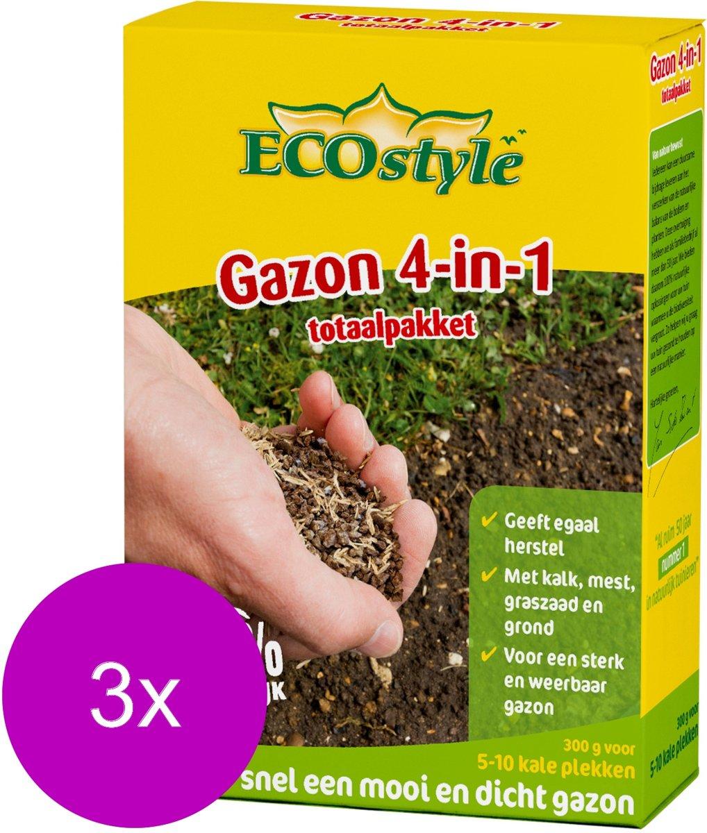 Ecostyle Gazonherstel - Graszaden - 3 x 300 g kopen