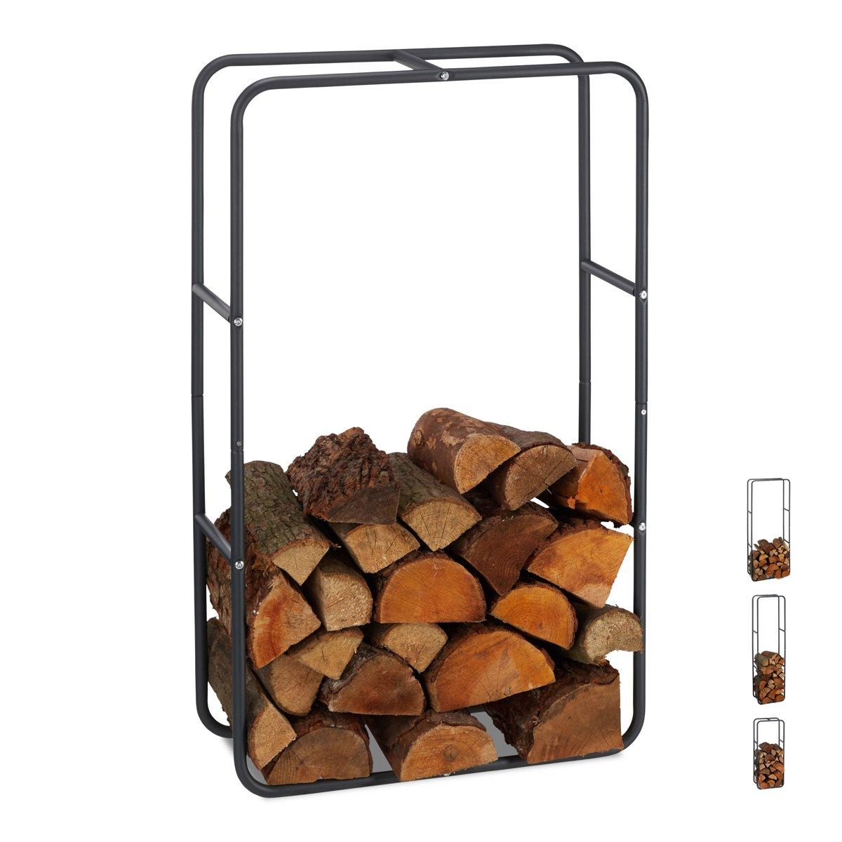 relaxdays Brandhout rek - haardhout opslag - haardhout rek - binnen - buiten - metaal 100 x 60 x 25 cm kopen