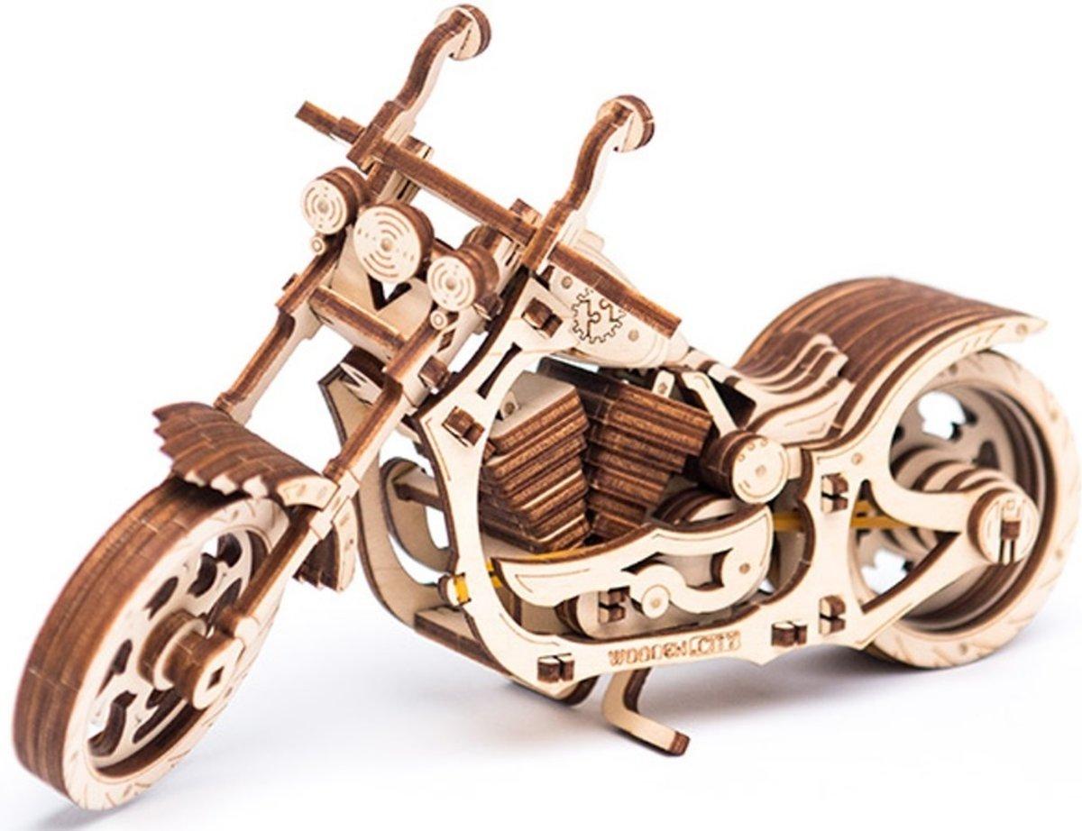 Wooden City Houten 3d-puzzel Cruiser Motorfiets 22 Cm 152-delig kopen