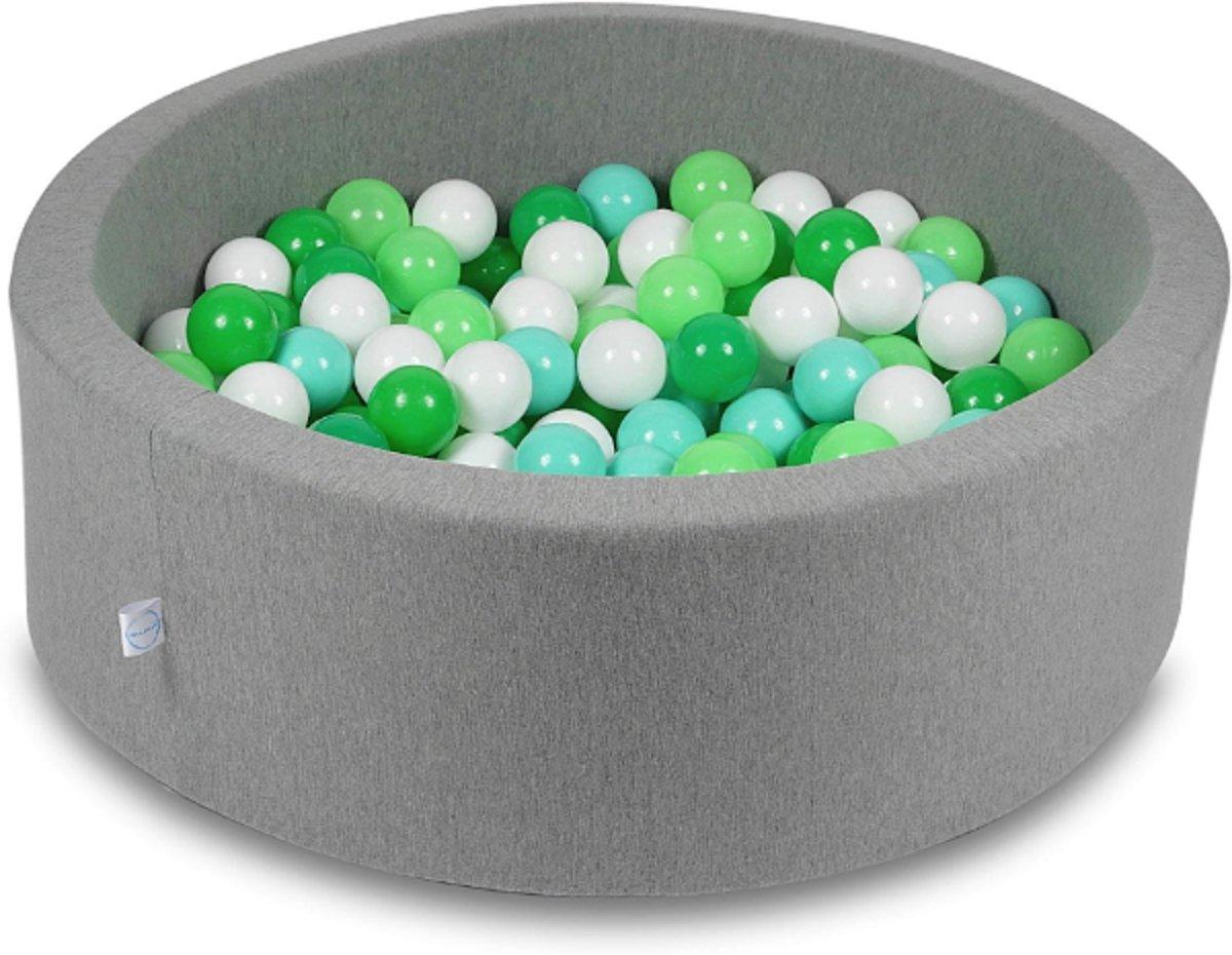 Ballenbak - 200 ballen - 90 x 30 cm - ballenbad - rond donker grijs
