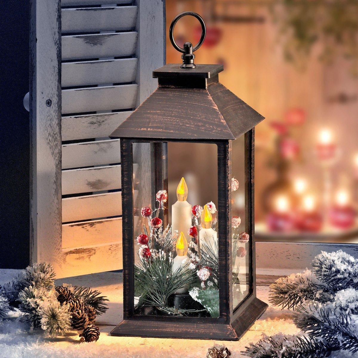 Kerstlantaarn met LED-licht kopen