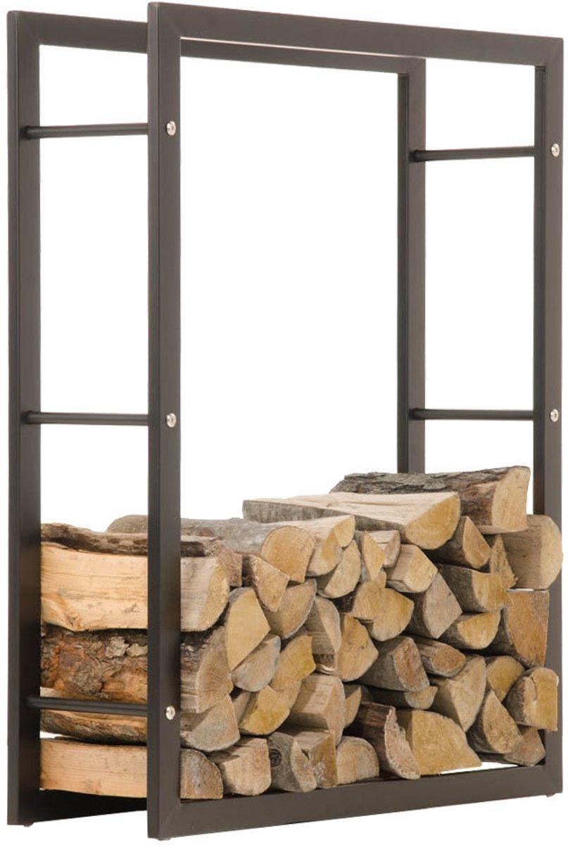 Clp KERI  - brandhout rek - matzwarte - 25 x 100 x 150 cm kopen