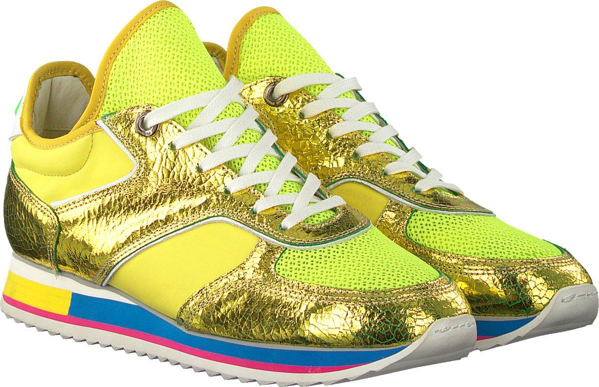 6b359e9cab3 bol.com | Floris Van Bommel Dames Sneakers 85261 - Neon - Maat 40