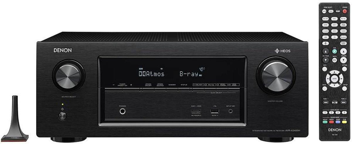 Denon AVR-X2400H - 7-kanaals full 4k Ultra HD AV-netwerkreceiver voor €389