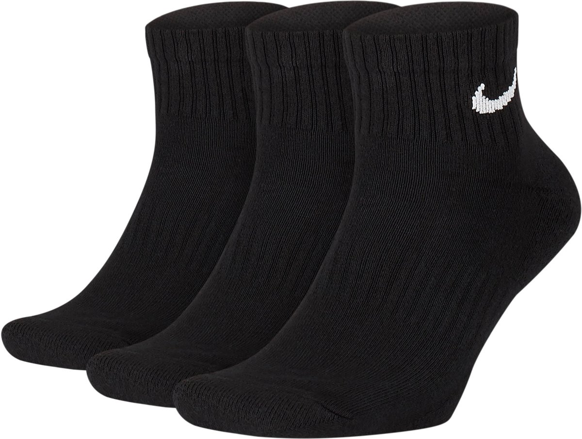 Nike Everyday Cushion Ankle Sokken Sportsokken - Maat 43-46 - Unisex - zwart/wit Maat 42-46 kopen