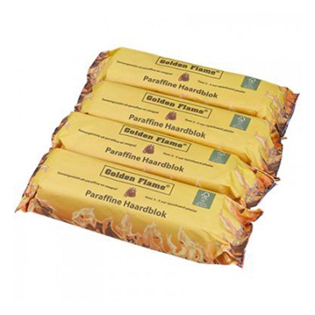 Golden Flame paraffine haardblokken - brandt 2-3 uur - 4 stuks per zak kopen