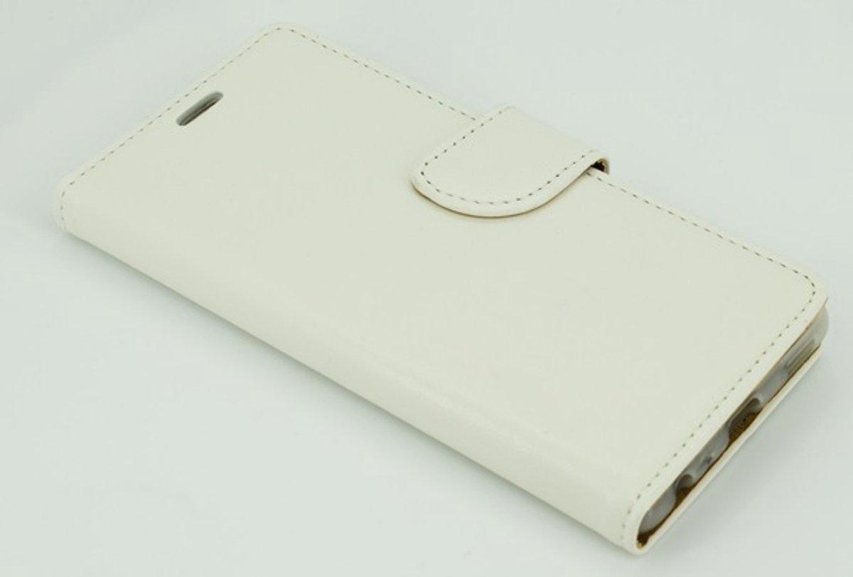 Image of Xssive Hoesje voor LG X Screen K500 - Book Case - Wit - geschikt voor 3 pasjes (8719288238082)