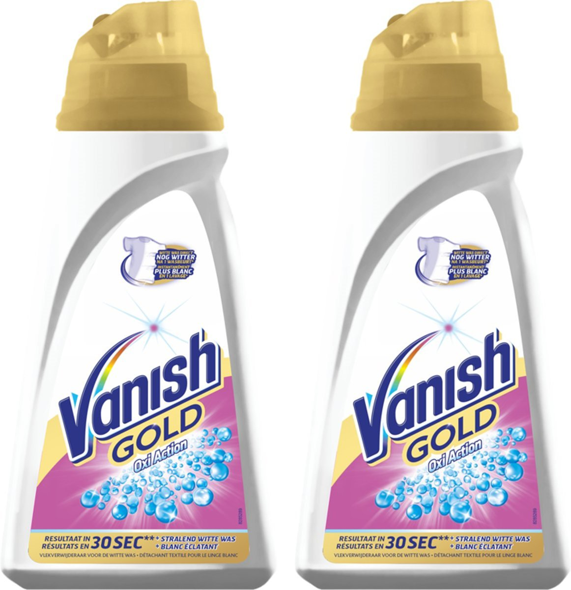 Vanish Gold Oxi Action - vlekverwijderaar witte was - 2 x 940 ml kopen