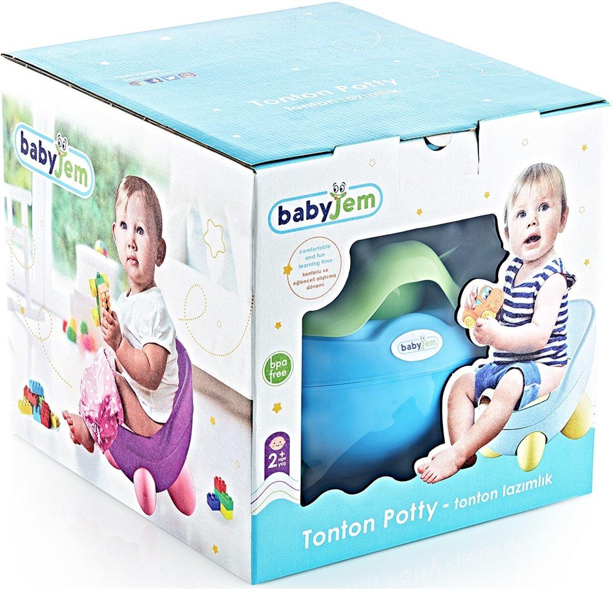 Babyjem Zachte Blauwe Baby Tonton Potje , Training Zitje Comfortabel en Veilig , Gezond en BPA-Vrij , Afzetbaar en Portatief kopen