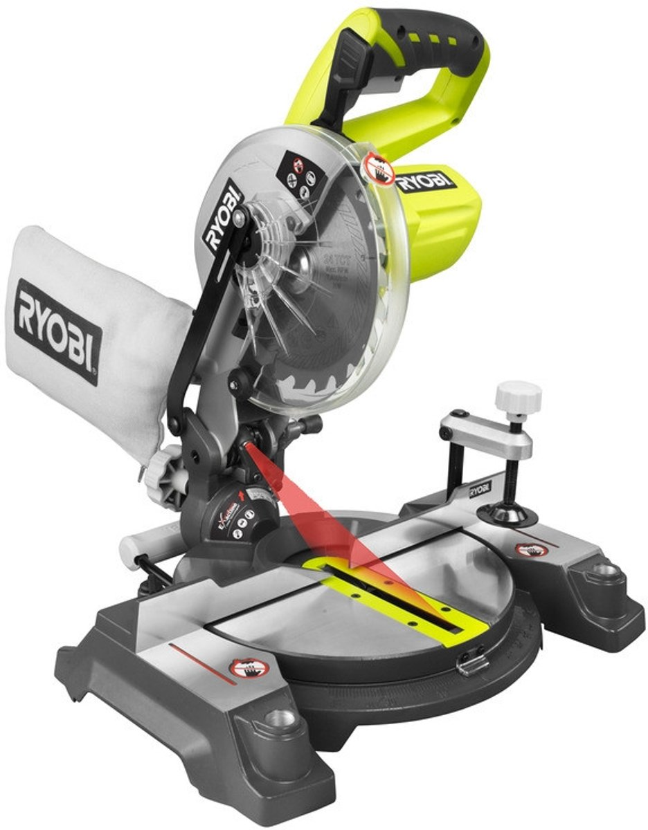 Ryobi EMS190DCL Accu Afkortzaagmachine 190mm 18V Losse Body