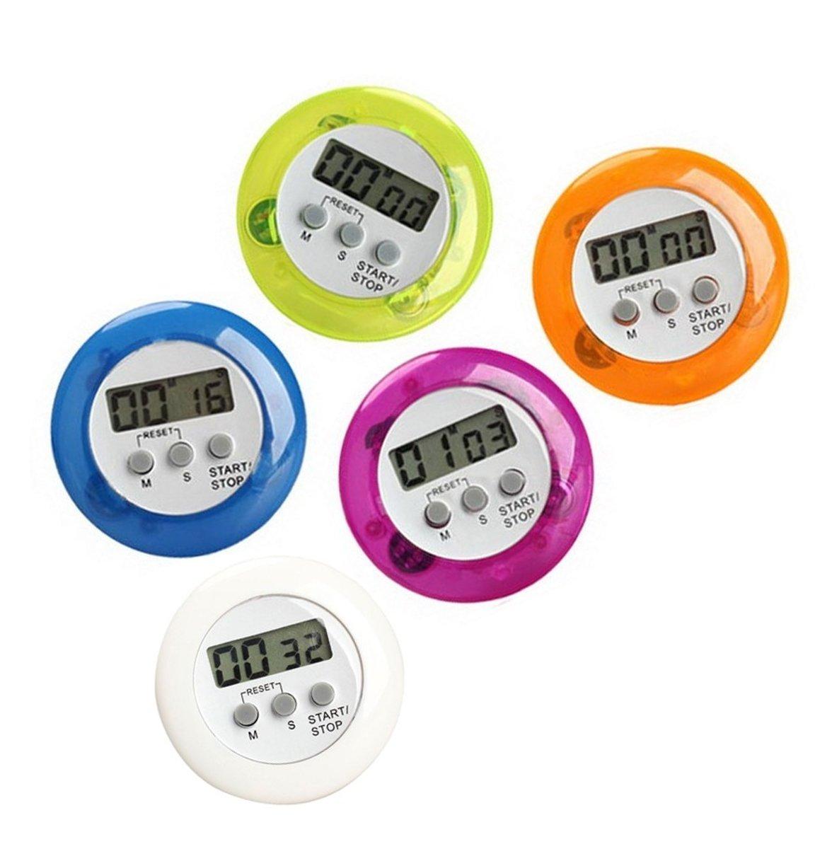 Digitale timer, kookwekker, alarmklok paars kopen