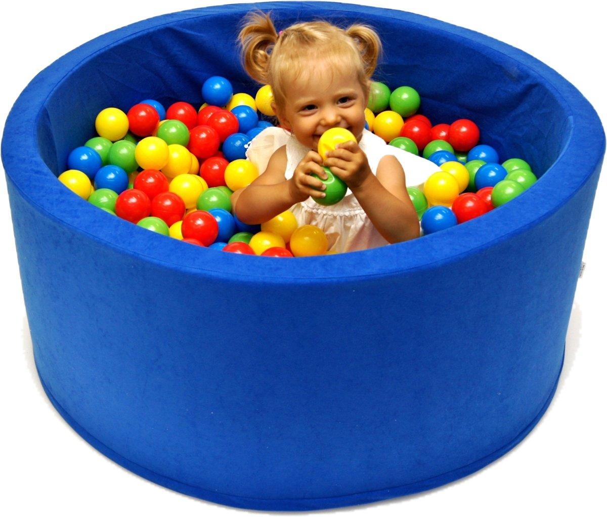 Ballenbak | Blauw incl.  200 gele, groene, blauwe en rode ballen