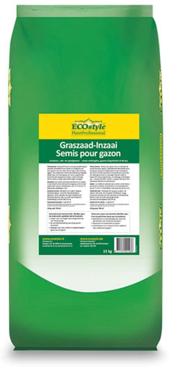 ECOstyle Graszaad-Inzaai - 15 kg - voor het inzaaien van een nieuw gazon - voor 750 m2