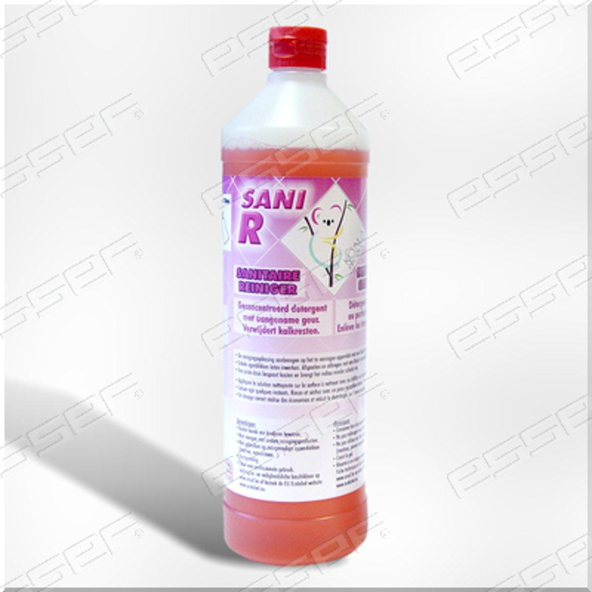 Geconcentreerde Sanitairreiniger Sani R - 1 Liter sanitaire reiniger met Ecolabel kopen