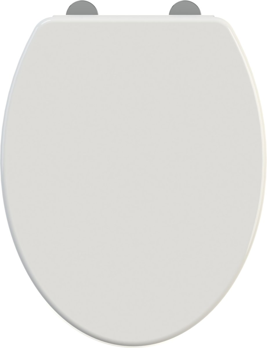 Allibert wc-bril EKLA - thermoplastiek - soft close - inox scharnieren - wit kopen