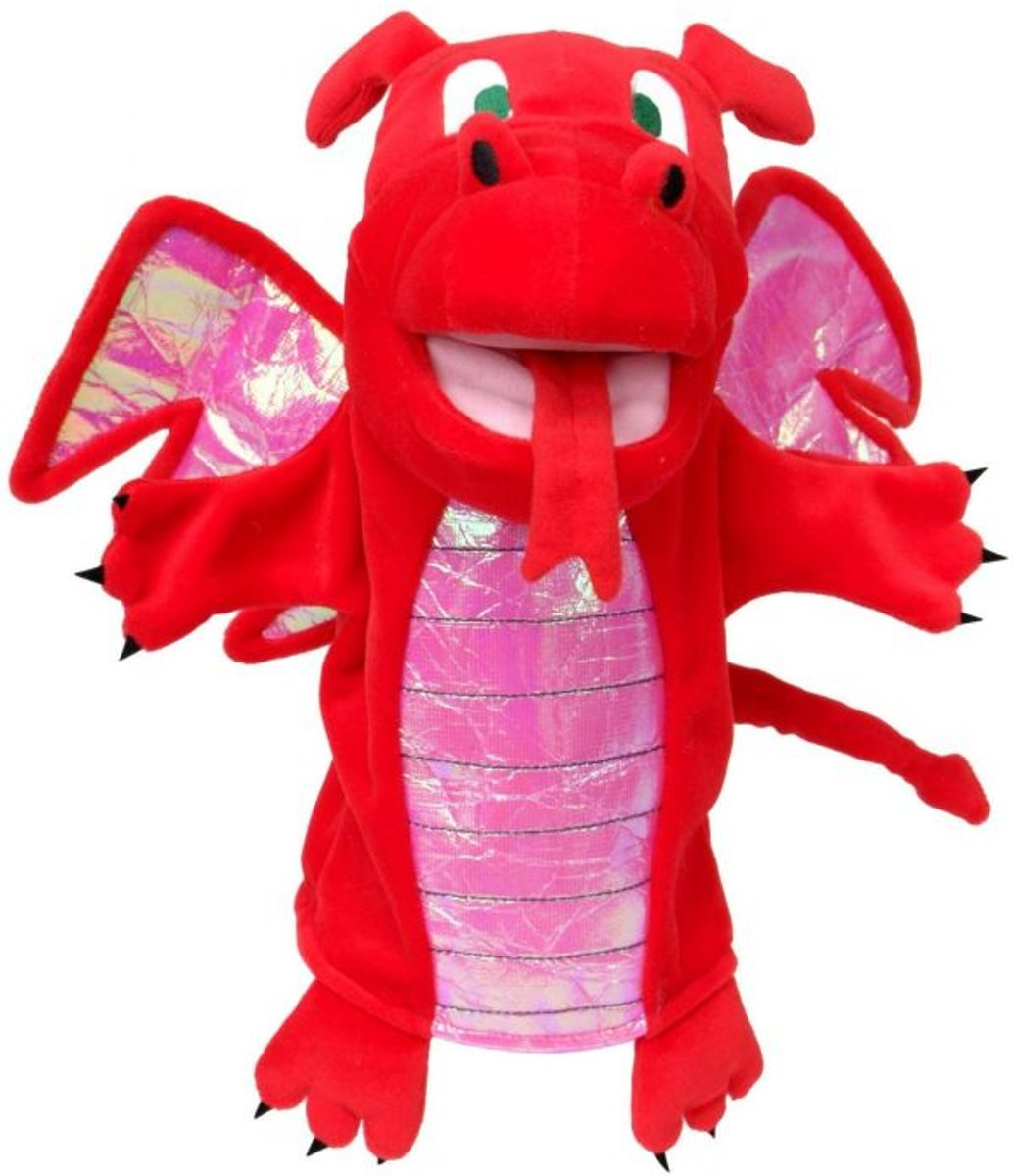 Fiesta Crafts Red Dragon Hand Puppet