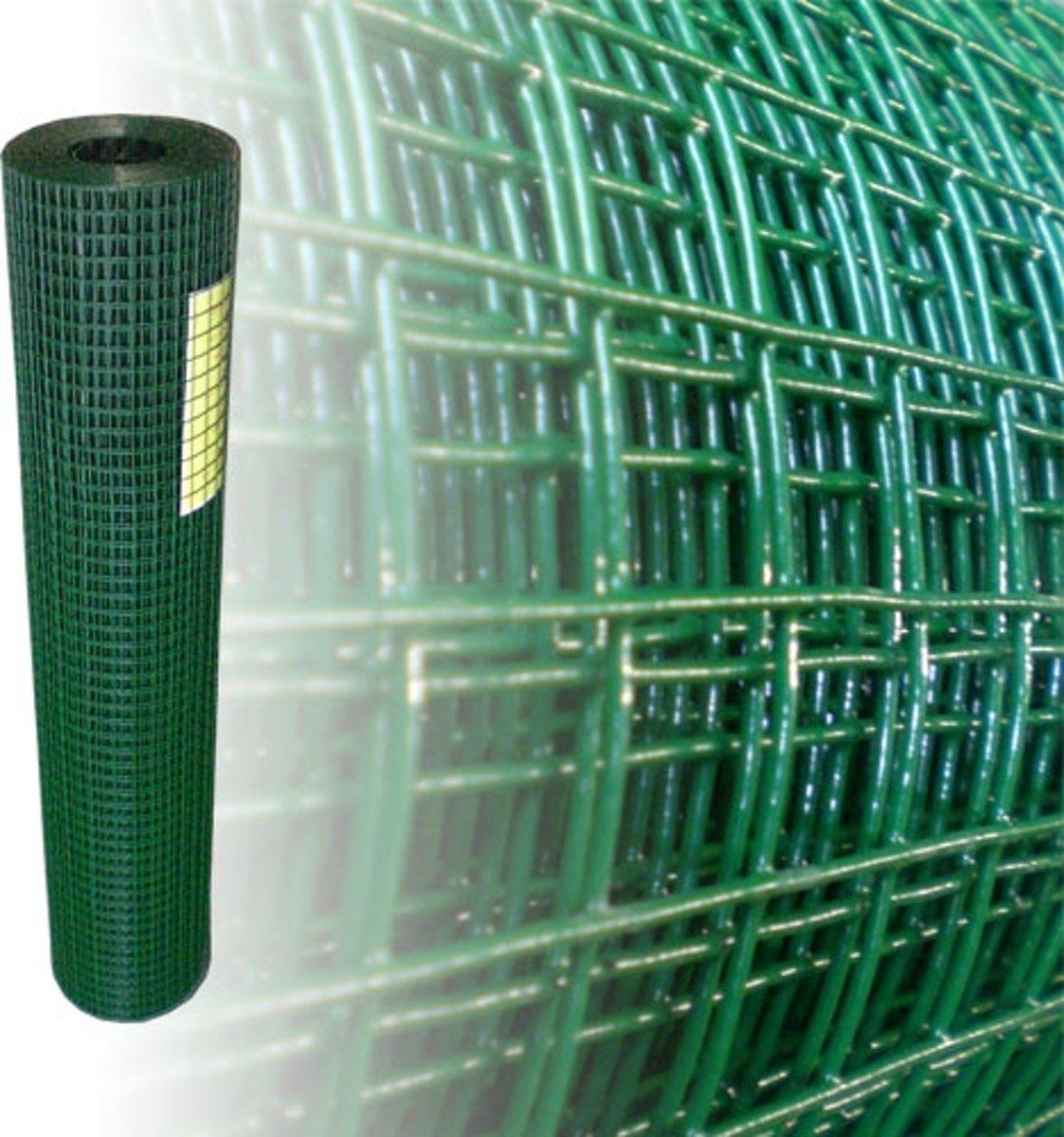 Volièregaas 19x19mm 1.2mm 100cm hoog 10m Rol Groen