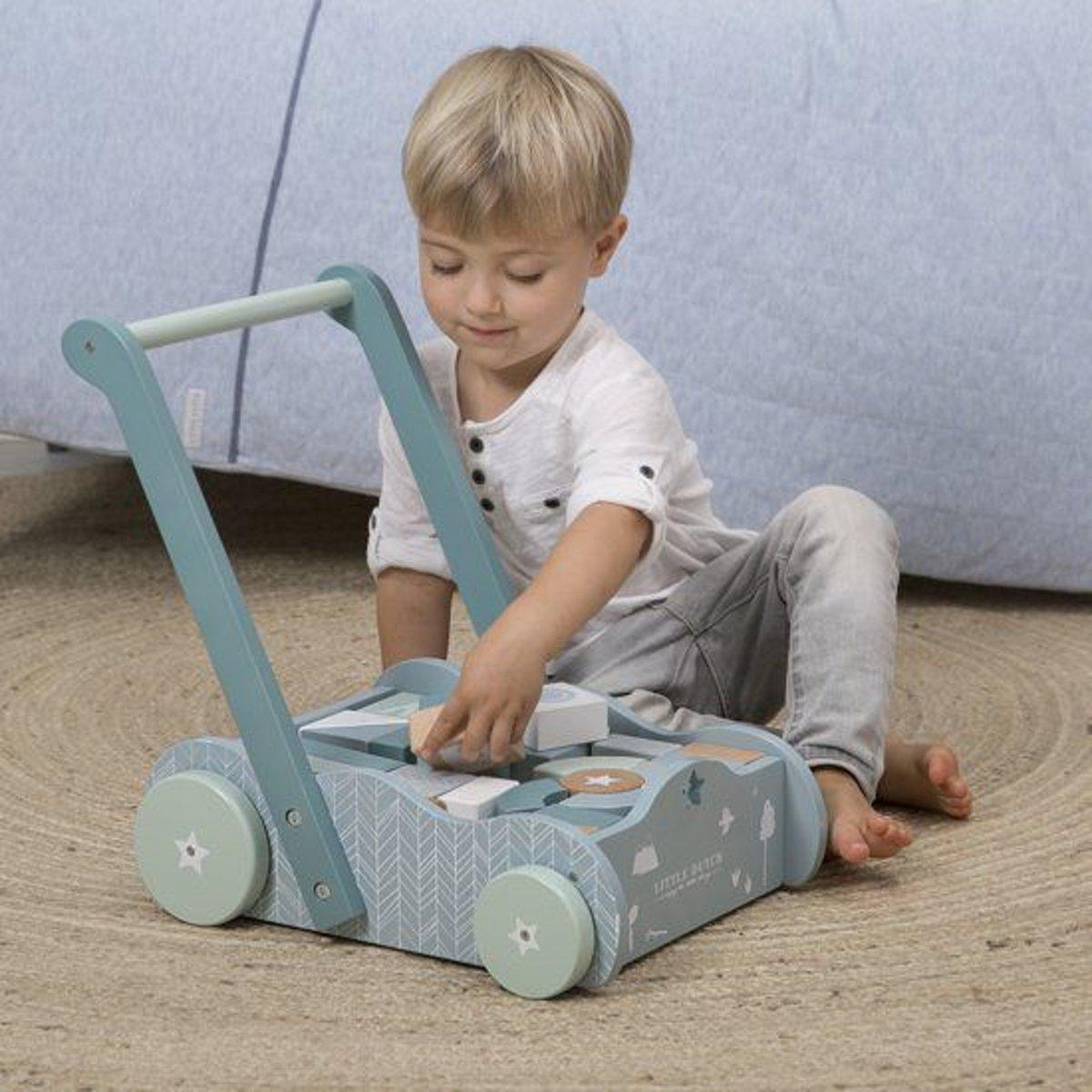 3c8c7871ee41de bol.com | Little Dutch Blokkenkar Adventure Mint Groen, Little Dutch |  Speelgoed