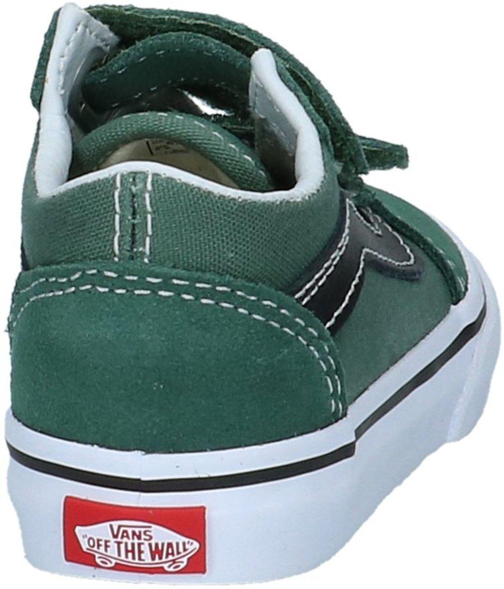 c8b2d2a36da bol.com | Vans - Old Skool V Td - Lage sneakers - Jongens - Maat 23,5 -  Groen;Groene - Q7M -Duck.
