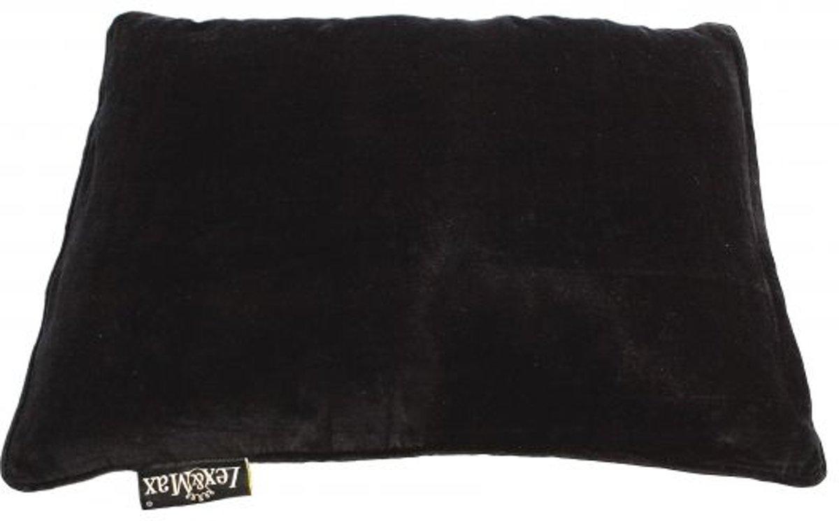 Lex & max emma kattenkussen rechthoek  60x45cm zwart
