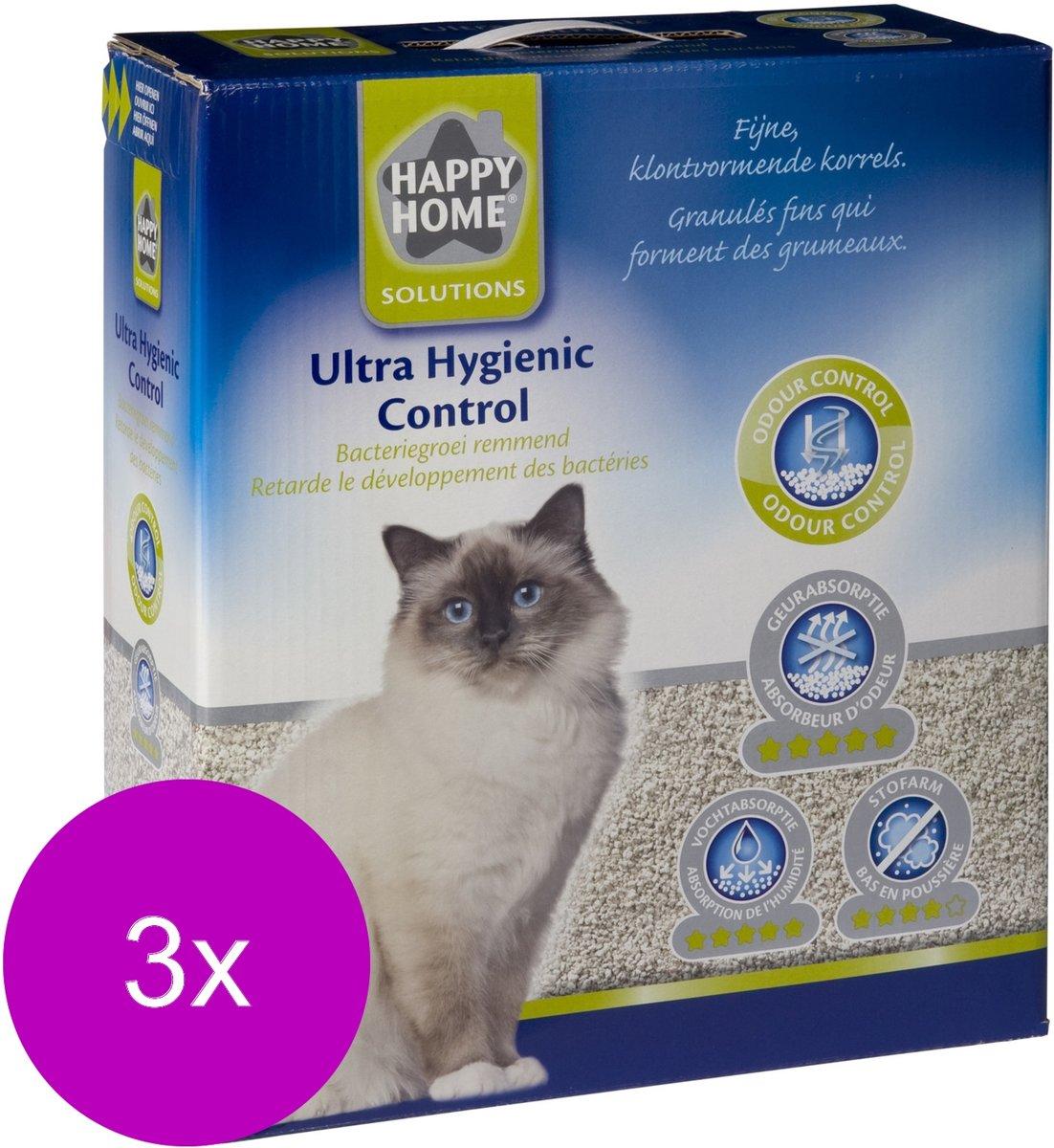 Happy Home Solutions Ultra Hygienic Control - Kattenbakvulling - 3 x 10 l kopen
