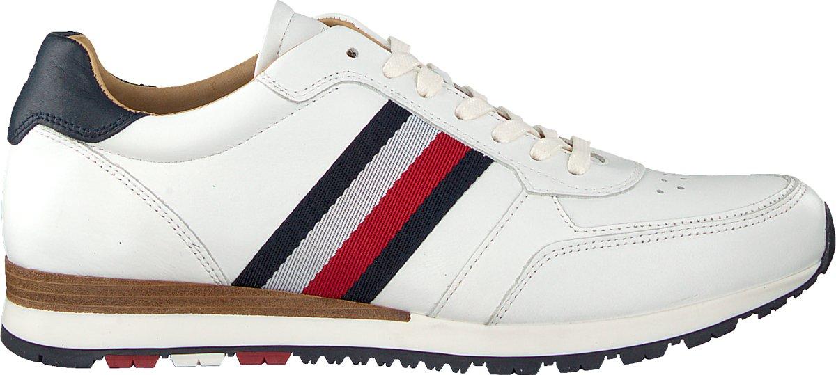 Tommy Hilfiger Heren Sneakers Luxury Corporate Lth Runner - Wit - Maat 41
