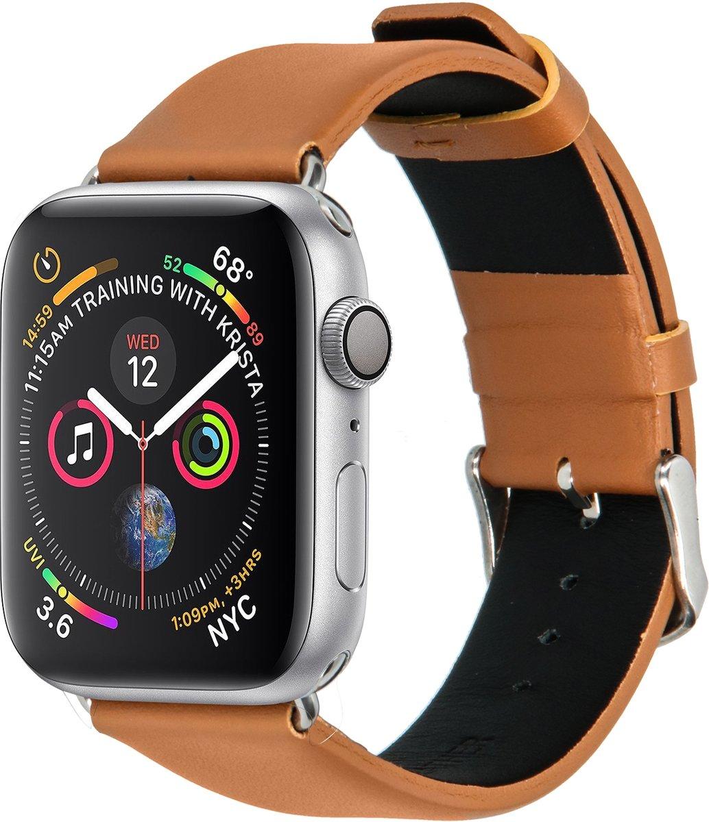 Lichtbruin effen lederen bandje voor de Apple Watch 40 / 38 mm kopen