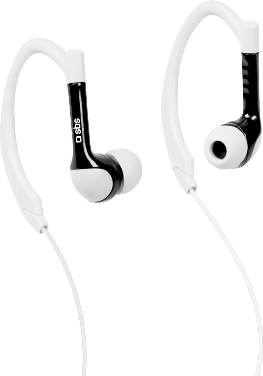 SBS TESPORTINEARK headphones/headset oorhaak Zwart, Wit kopen