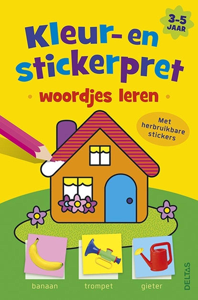 Kleur- en stickerpret woordjes leren (3-5 j.)