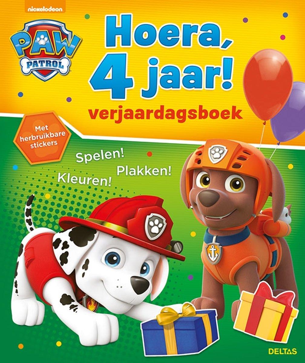 Paw Patrol - Hoera, 4 jaar! Verjaardagsboek