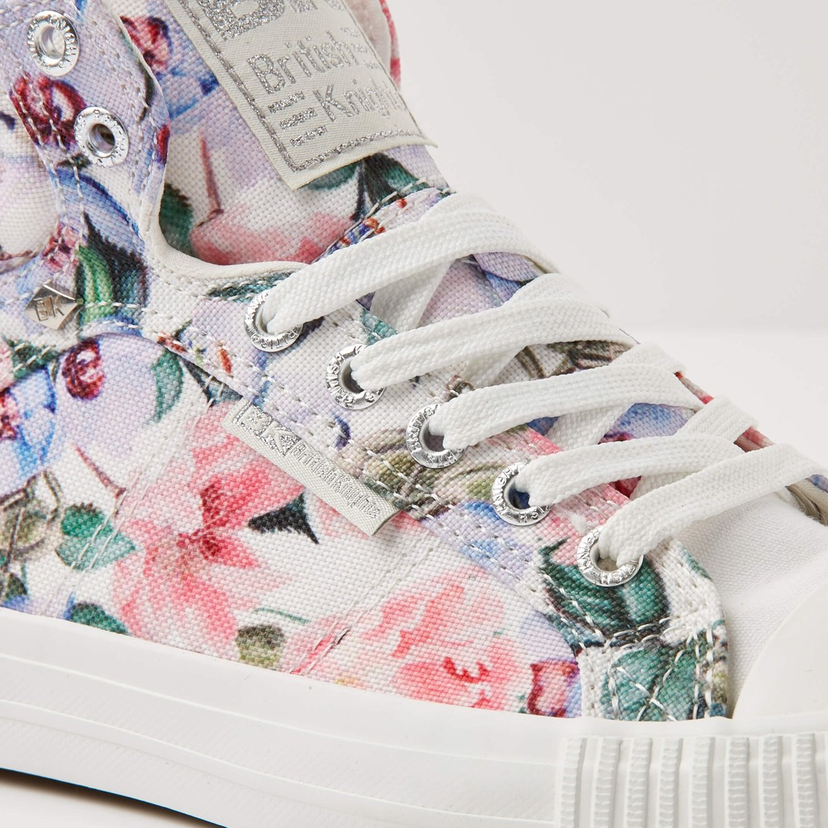1d0aba56438 bol.com | British Knights DEE Dames sneakers hoog - Lila bloemen - maat 40