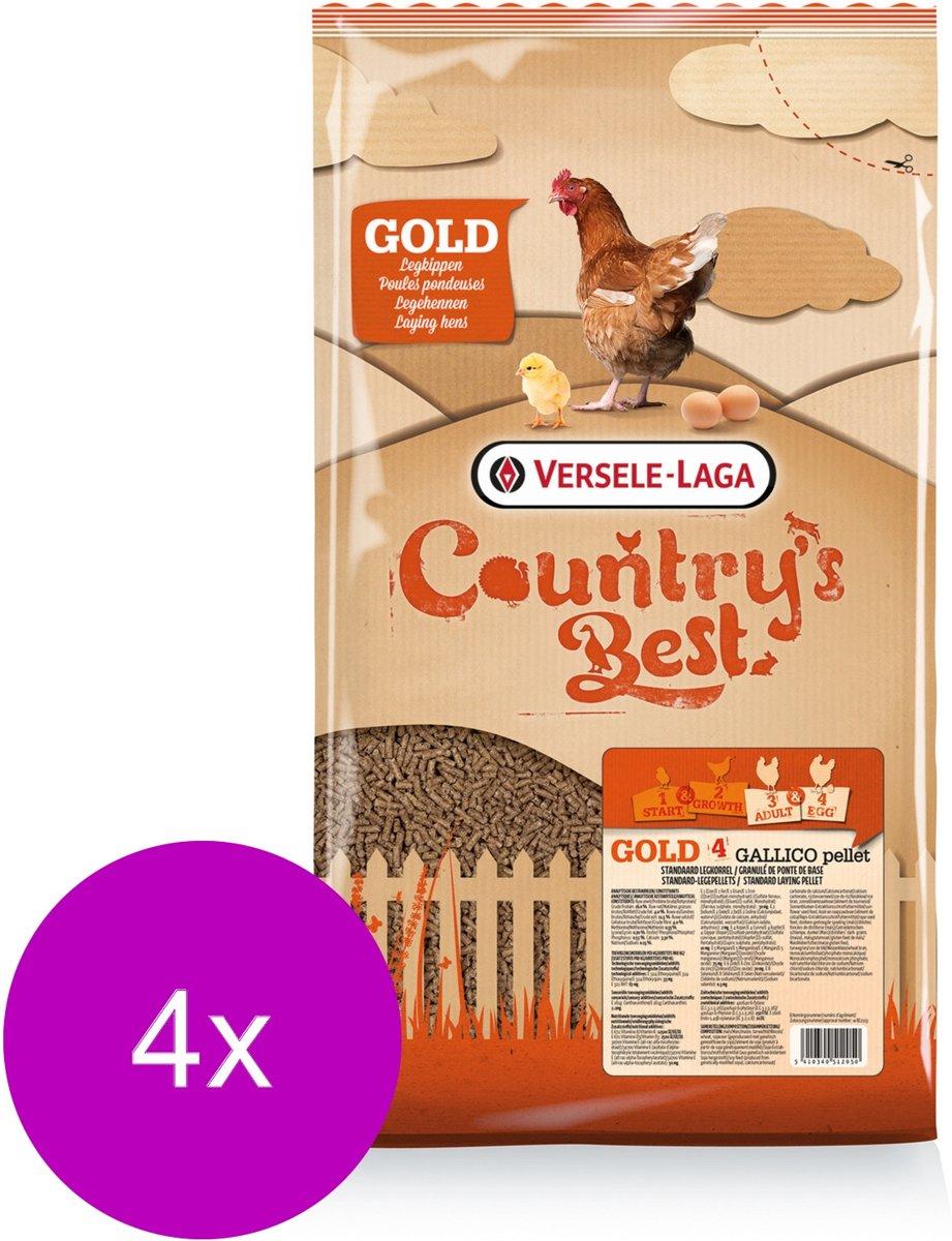 Versele-Laga Country`s Best Gold 4 Gallico Pelletlegkorrel - Kippenvoer - 4 x 5 kg Vanaf 1e Ei